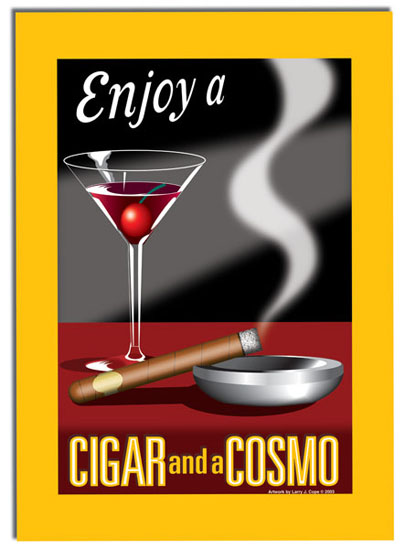cosmo and a cigar poster